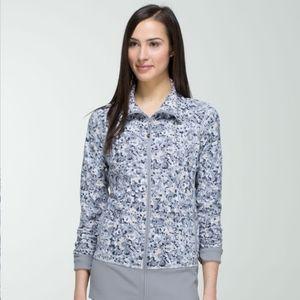 Lululemon Nice Asana Jacket in Fleur Silver